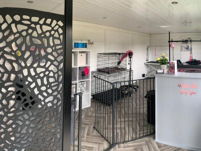 Peterborough Garden Room Dog Groomer Finishing Inside Piece