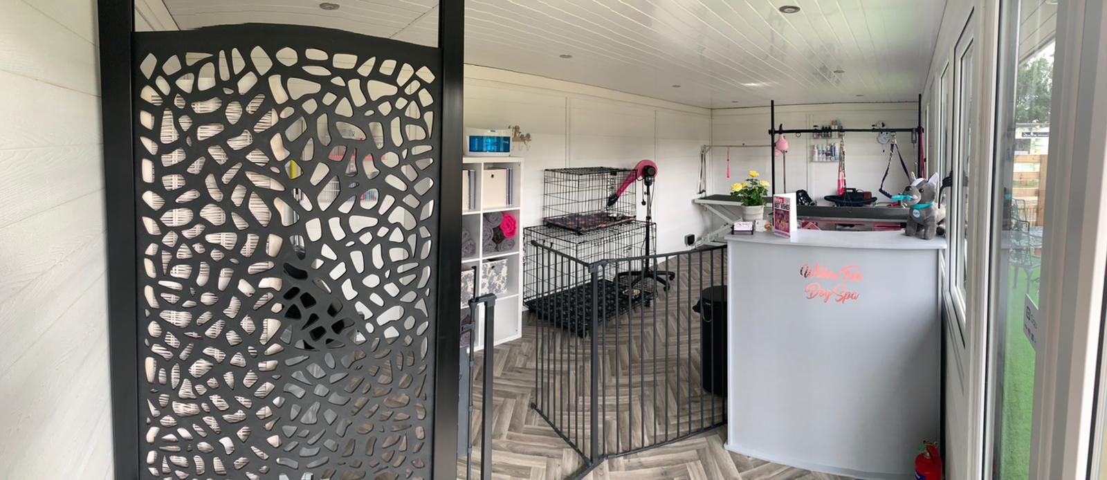 Peterborough Garden Room Dog Groomer Finishing Inside Piece