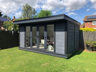 Composite Garden Room Beauticians In Peterborough Outside Shot