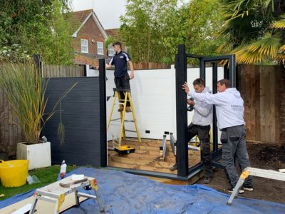 Garden Room In Peterborough, Installation In Progress